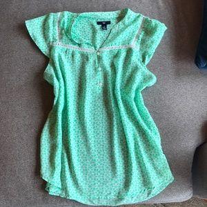 Gap flutter sleeve blouse